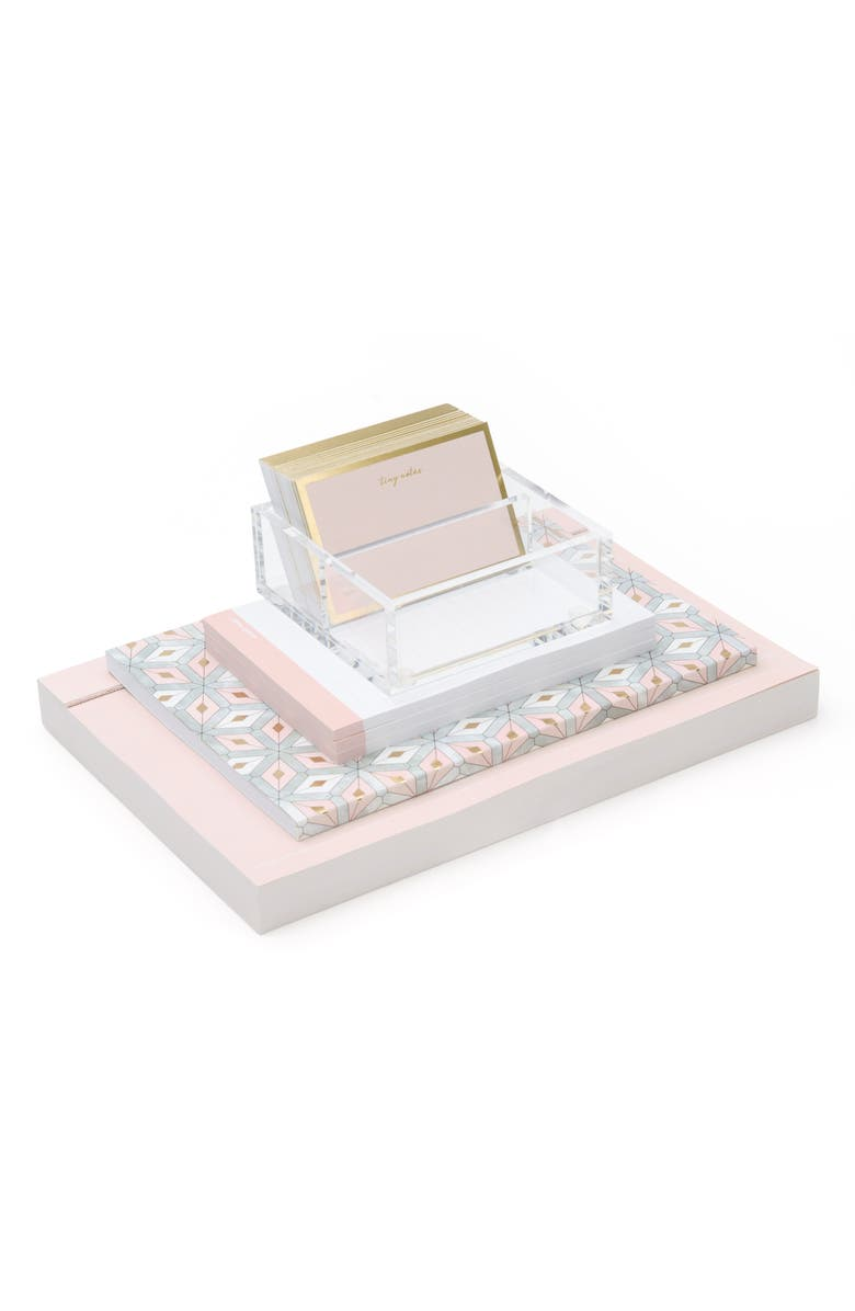 RUSSELL + HAZEL Desk Accessory Set, Main, color, PINK