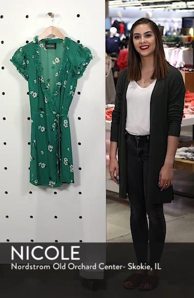 Garnet Floral Wrap Minidress, sales video thumbnail