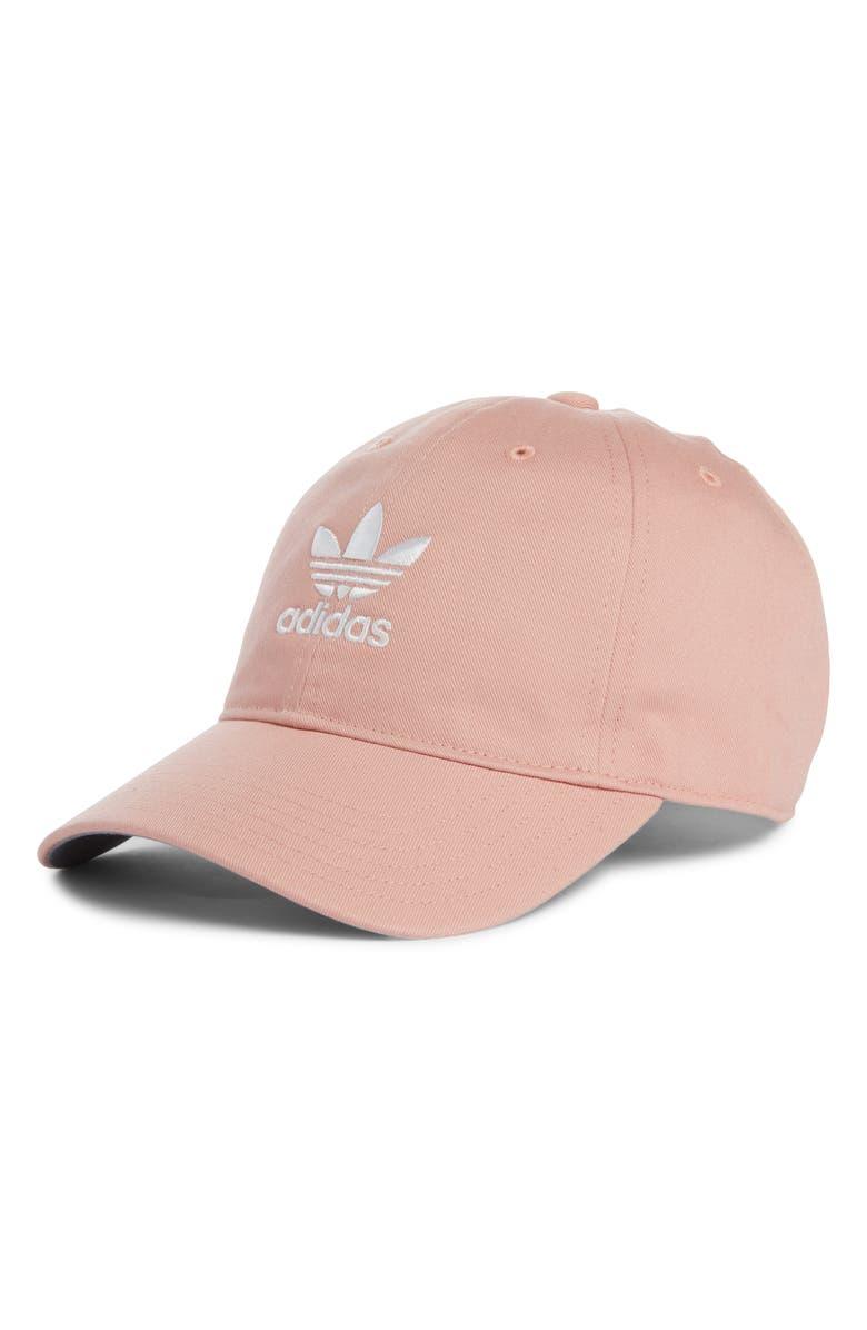 ADIDAS Originals Relaxed Baseball Cap, Main, color, LT PINK