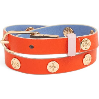 Tory Burch Reversible Double Wrap Logo Bracelet