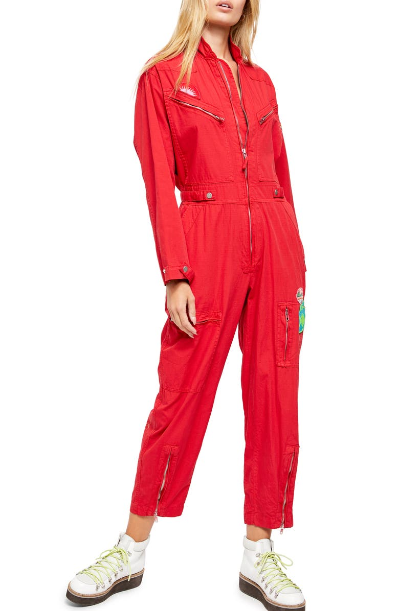 FREE PEOPLE Lena Zip Front Jumpsuit, Main, color, 616