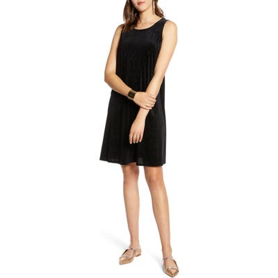 Halogen Sleeveless Velvet A-Line Dress, Black