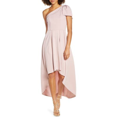 Chi Chi London One-Shoulder High/low Party Dress, Pink