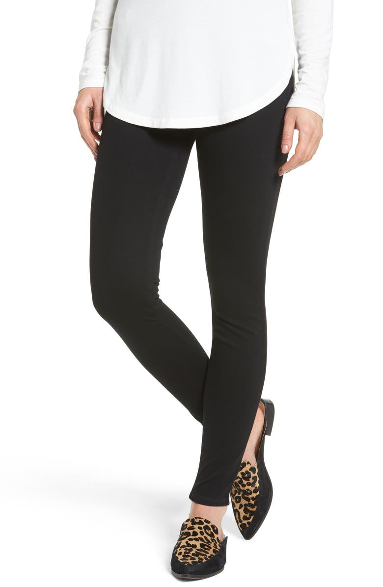 SPANX<SUP>®</SUP> Jean-ish Leggings, Main, color, BLACK