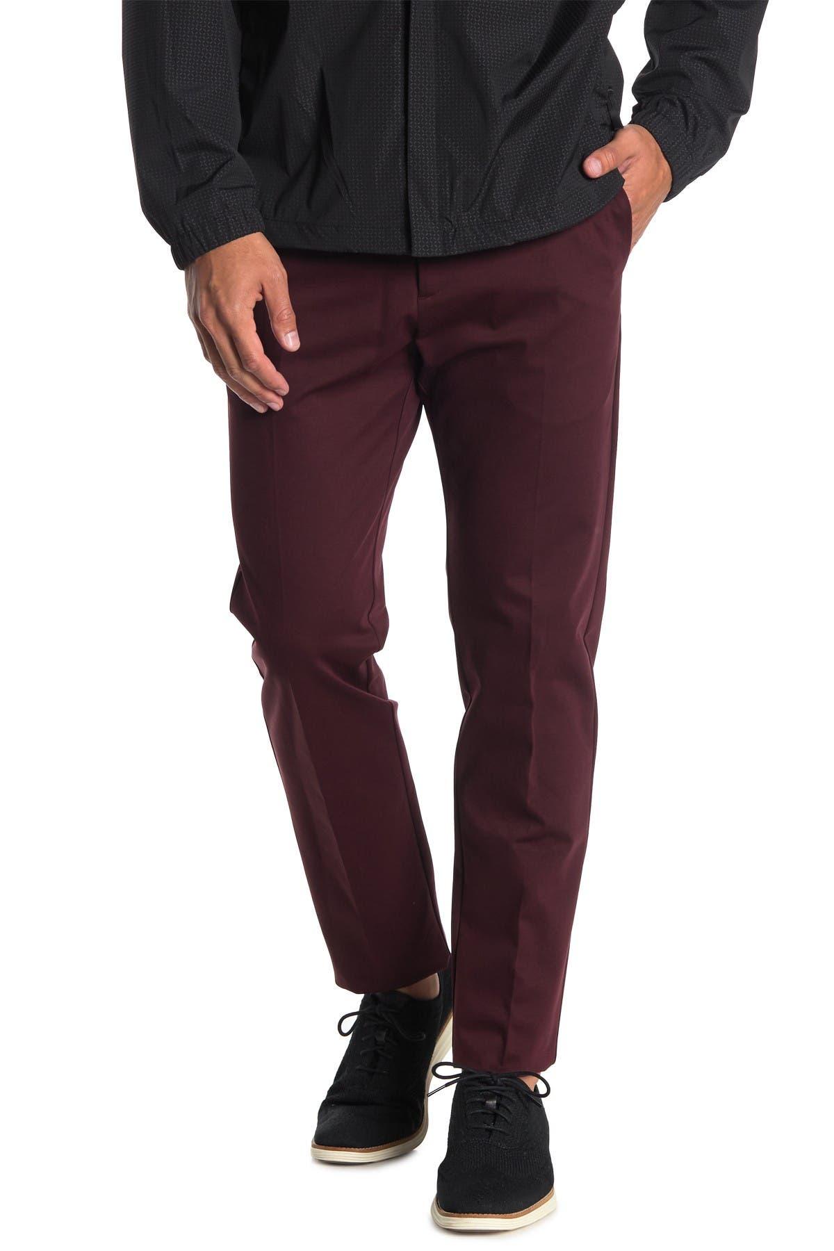 Image of Theory Semi Tech Straight Leg Pants