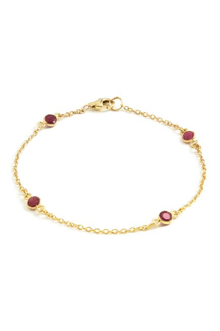 Image of Savvy Cie 18K Gold Vermeil Ruby By The Yard Classic Bracelet