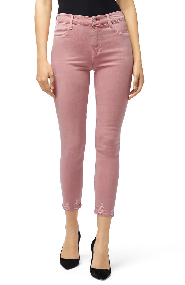 J BRAND Alana High Waist Crop Skinny Jeans, Main, color, PRINCESS DISTRUCT