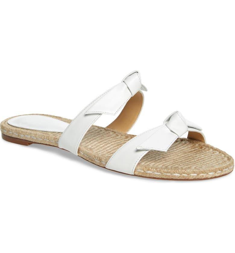 ALEXANDRE BIRMAN Clarita Slide Sandal, Main, color, WHITE