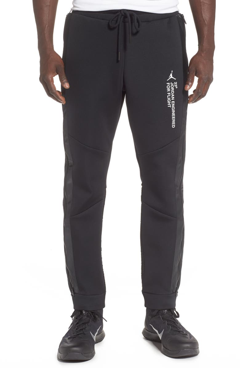 JORDAN 23 Engineered Sweatpants, Main, color, BLACK/ WHITE