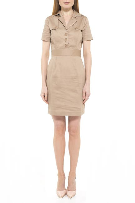 Image of Alexia Admor Skylar Cap Sleeve Mini Trench Dress