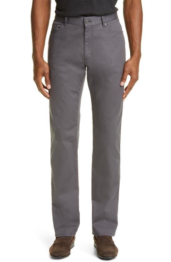 Ermenegildo Zegna Slim Fit Jeans In Dark Grey Solid