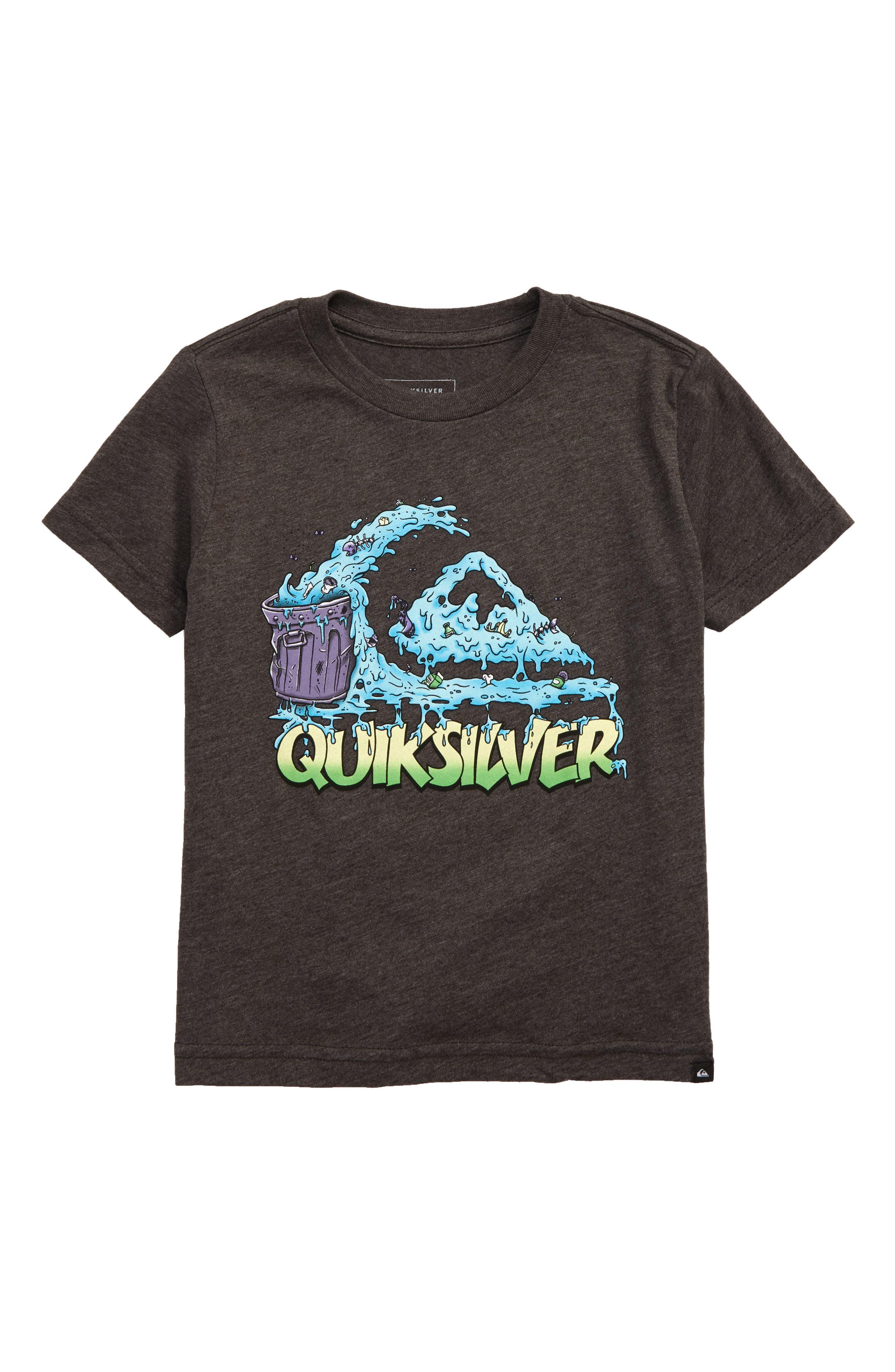 Toddler Boys Quiksilver Green Cruz Graphic TShirt Size 3T  Grey