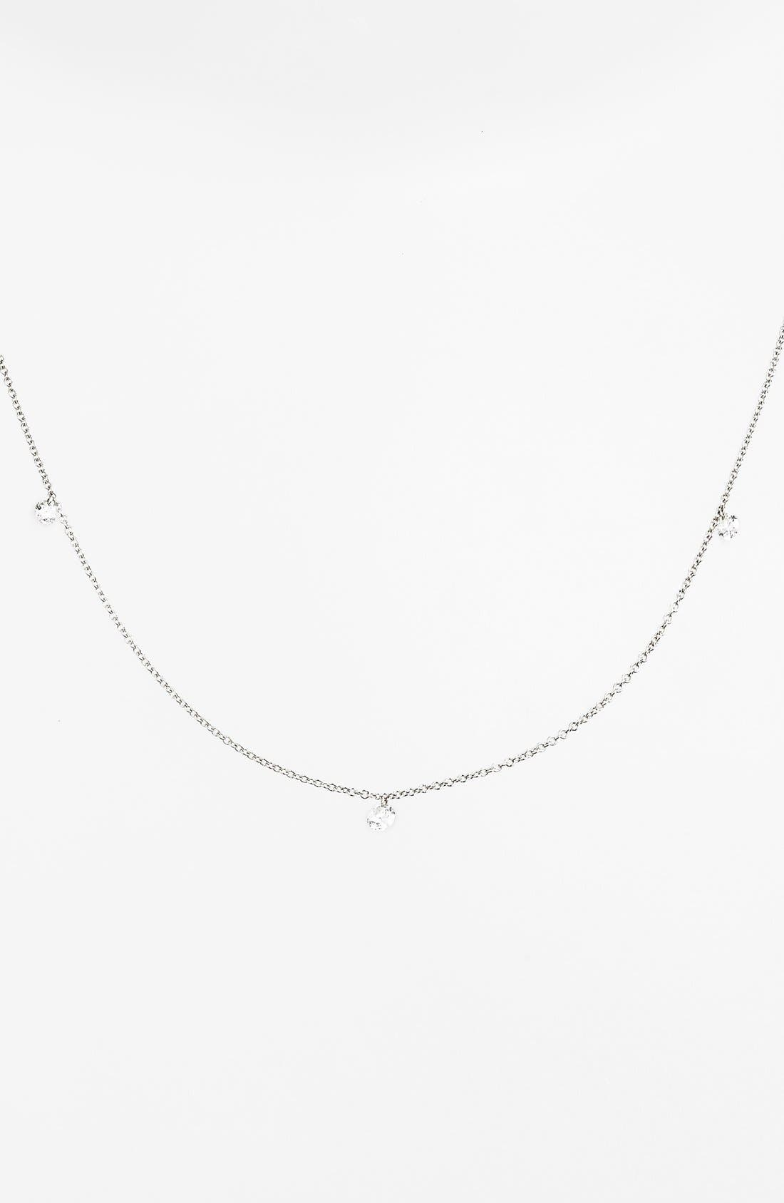 ,                             'Floating Diamond' 3-Diamond Necklace,                             Alternate thumbnail 5, color,                             WHITE GOLD