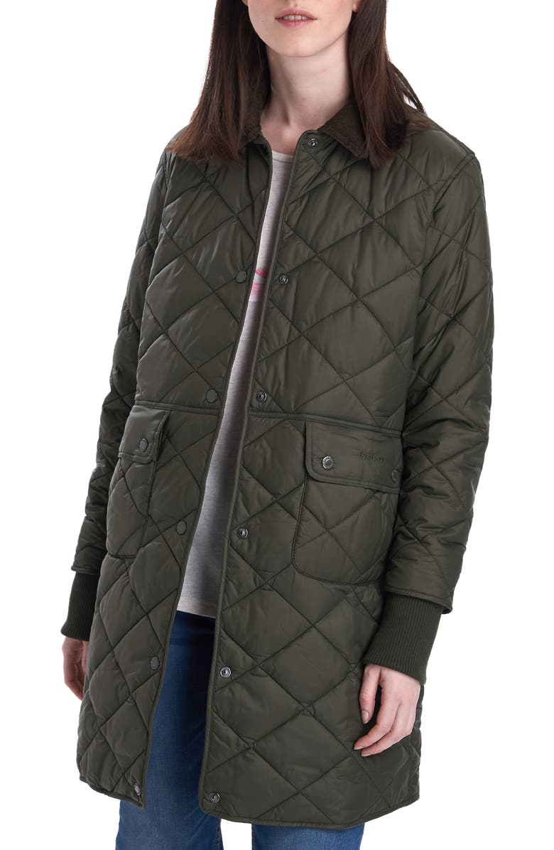BARBOUR Jedburgh Diamond Quilted Coat, Main, color, 302