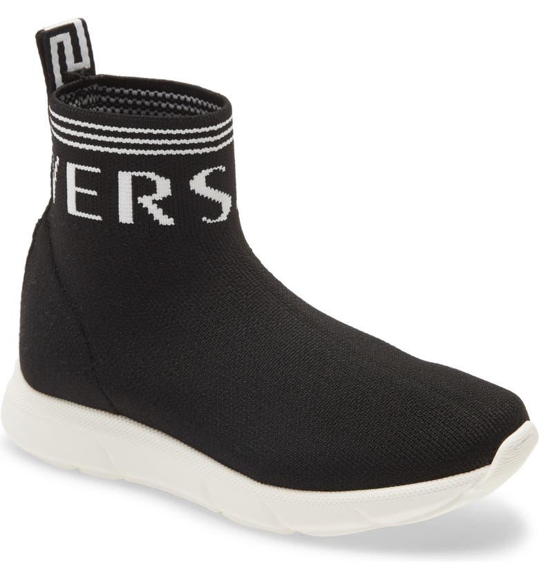 VERSACE FIRST LINE Versace Alta Calzino High Top Sock Sneaker, Main, color, BLACK