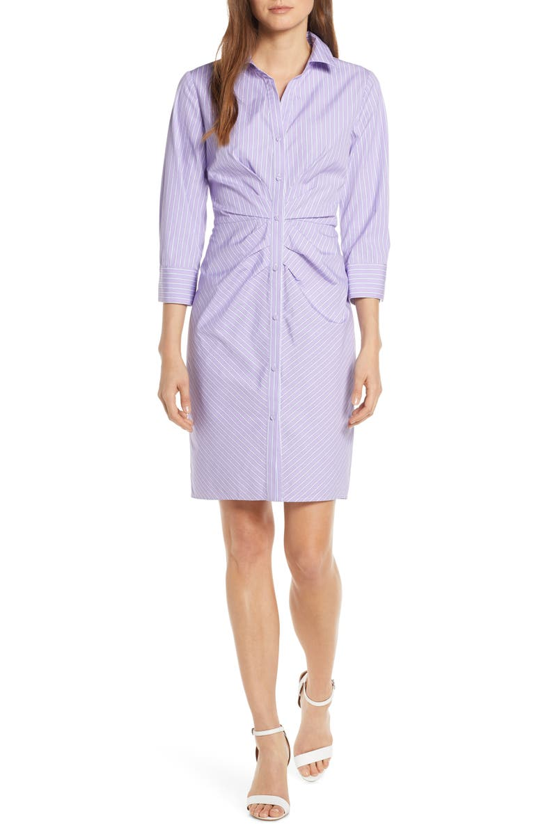 VINCE CAMUTO Button Front Shirtdress, Main, color, 500