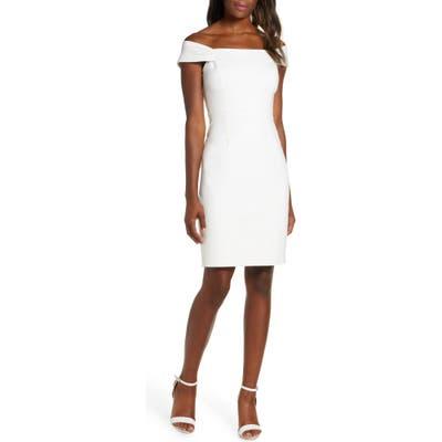 Adelyn Rae Jacklyn Off The Shoulder Dress, White