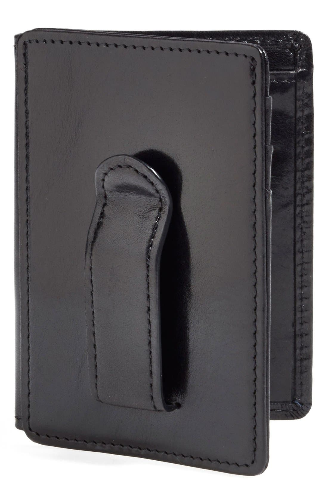 Old Leather Front Pocket Id Wallet