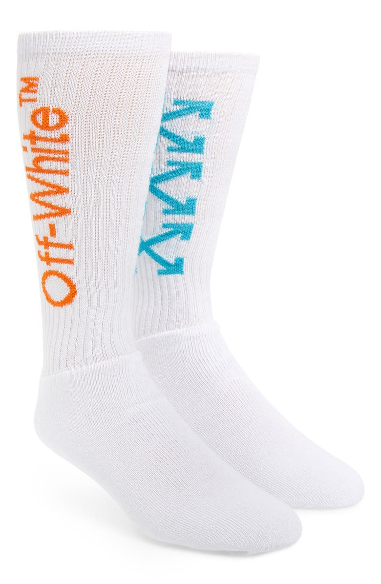 OFF-WHITE Arrows Athletic Socks, Main, color, 100