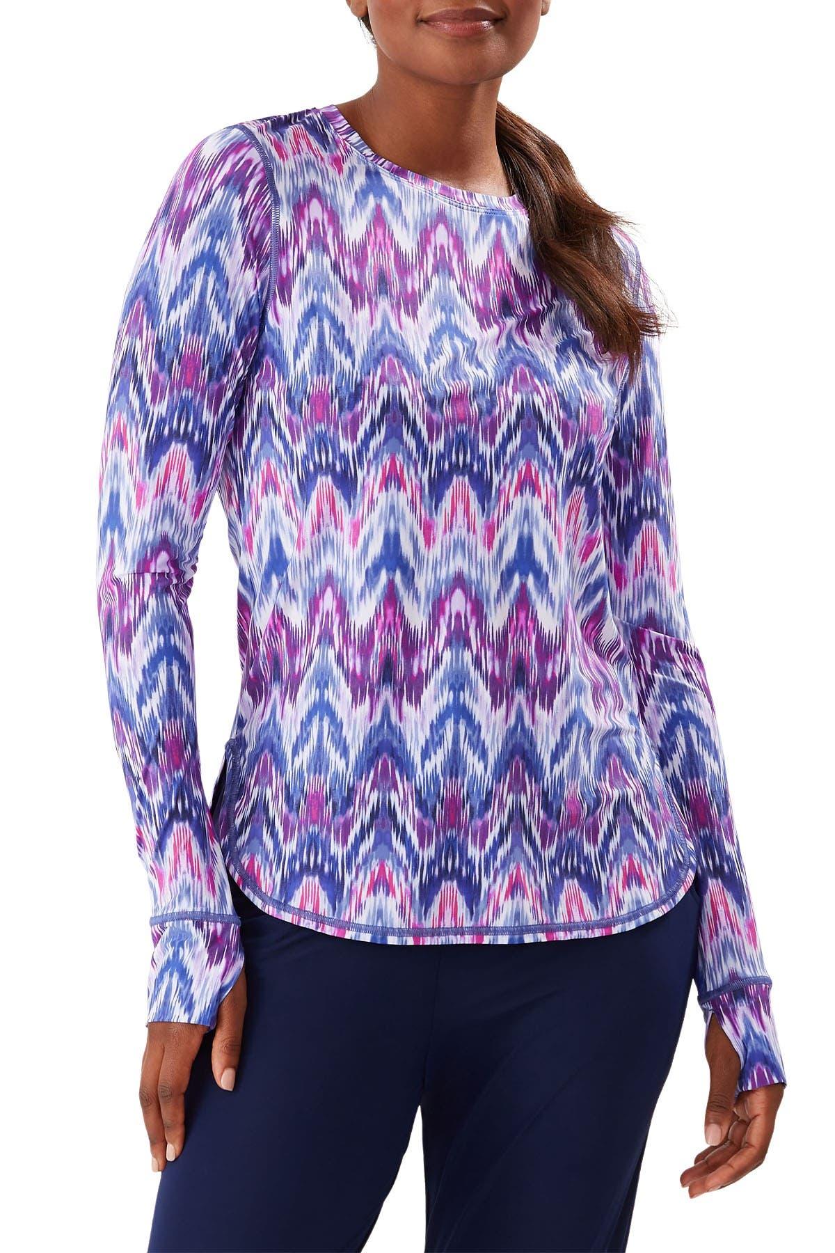 Image of Tommy Bahama Ikat Mirage Geometric Print Long Sleeve Relaxed T-Shirt