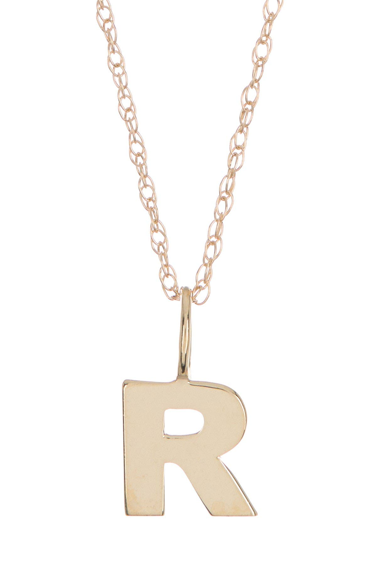 Image of Candela 10K Yellow Gold Iniital Pendant Necklace