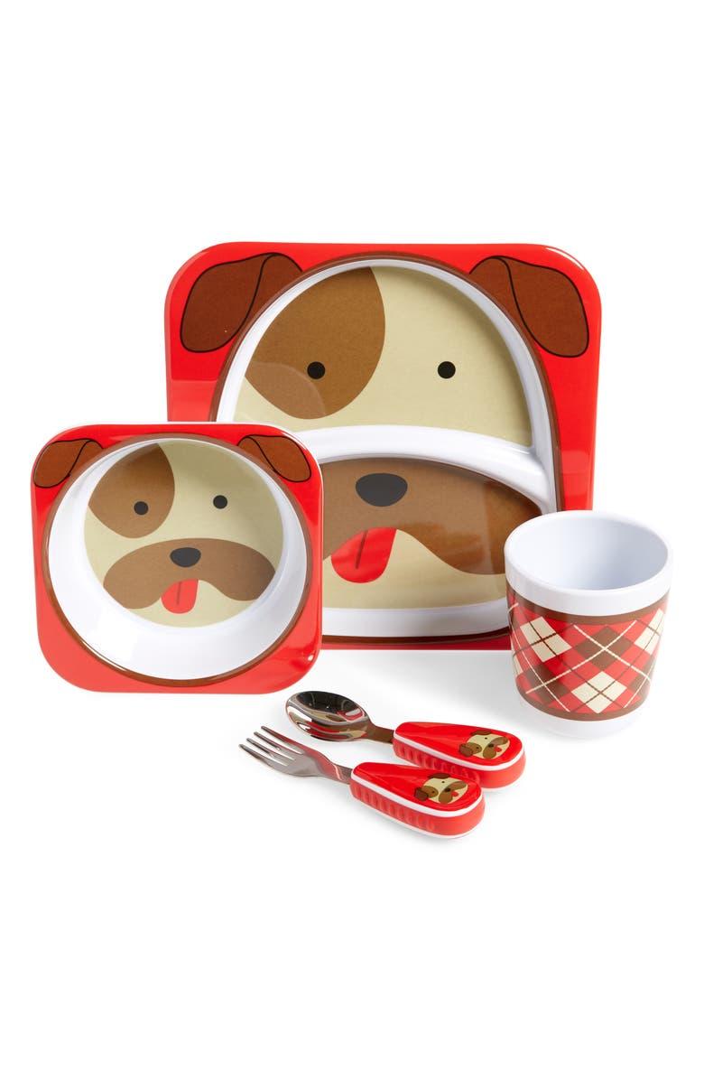SKIP HOP Zoo Mealtime Plate, Bowl, Cup & Utensil Set, Main, color, MULTI