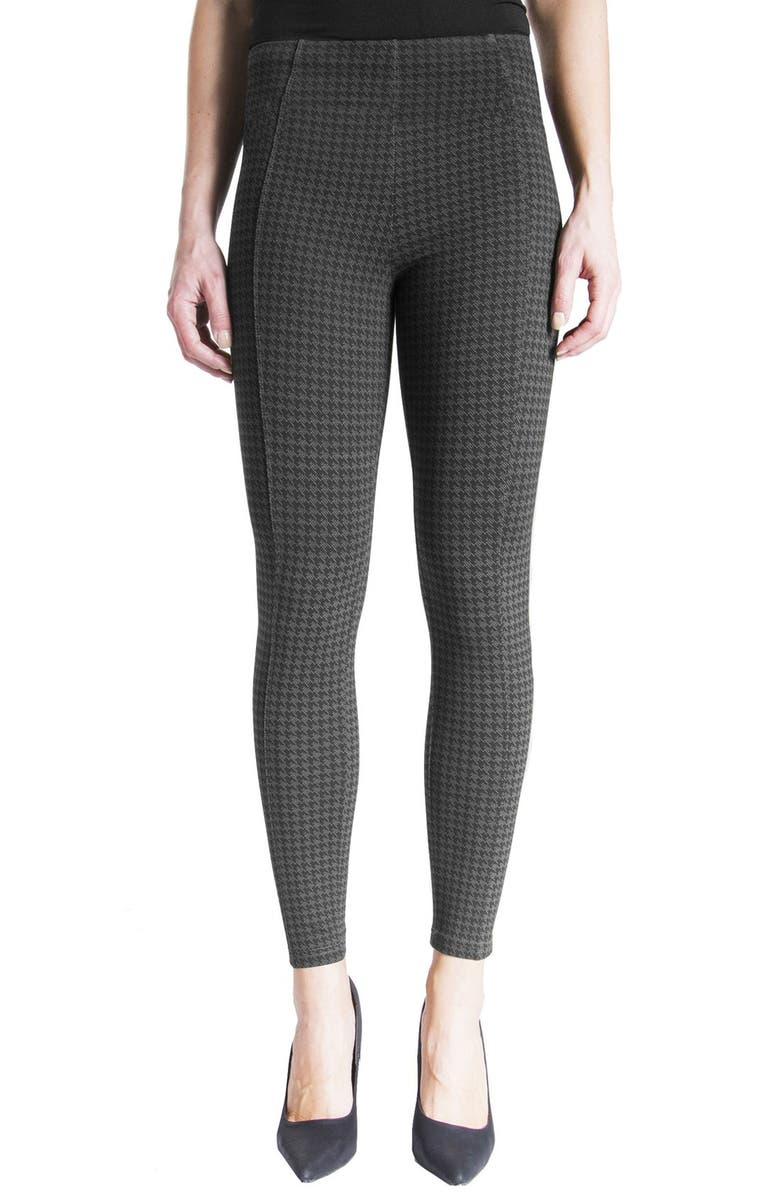 LIVERPOOL Reese Houndstooth Knit Leggings, Main, color, 025