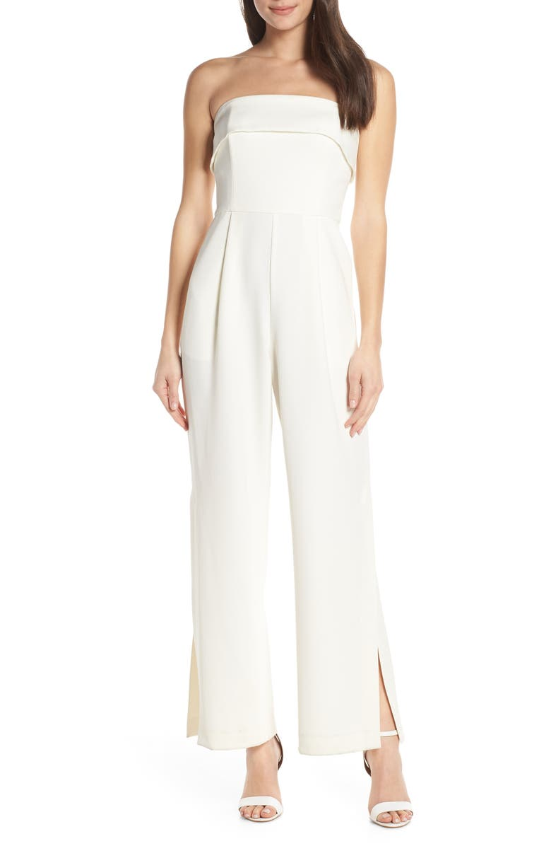 EVER NEW Strapless Jumpsuit, Main, color, 105