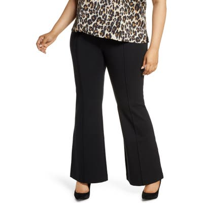 Plus Size Spanx Flare Ponte Pants, Black