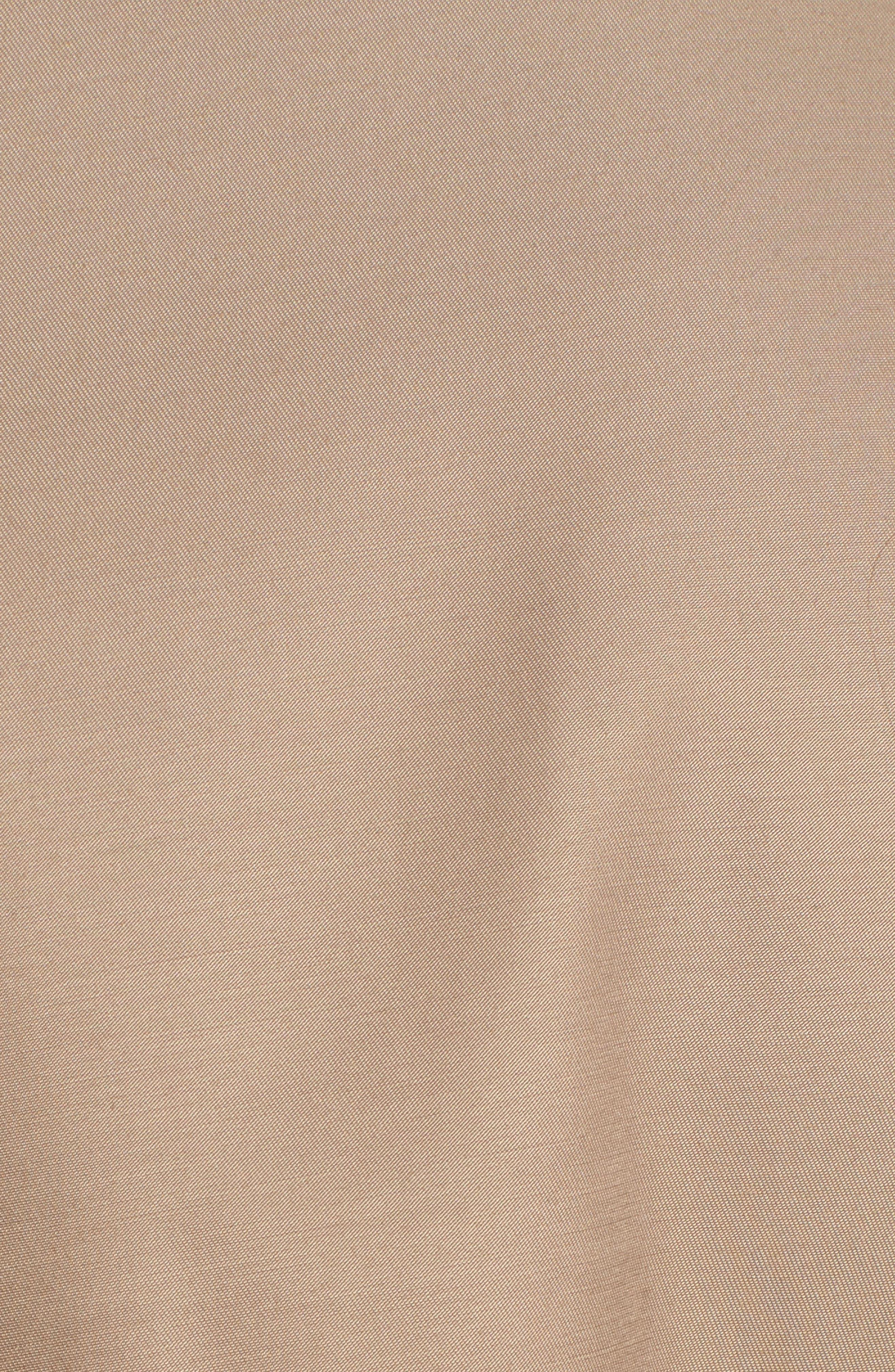 ,                             Faux Leather Trim Trench Coat,                             Alternate thumbnail 5, color,                             262