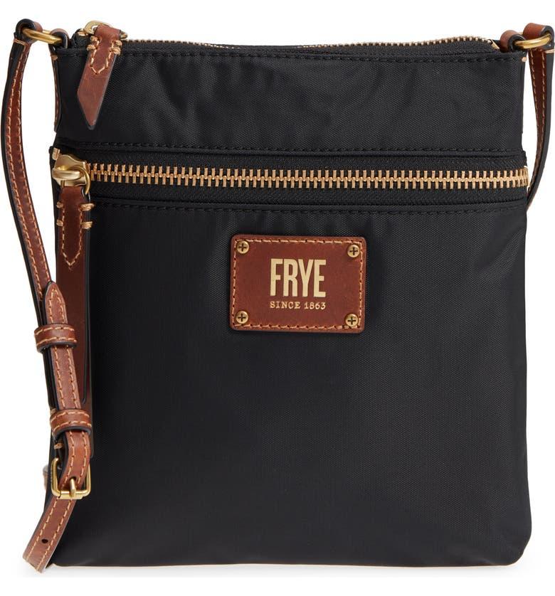 FRYE Ivy Nylon Crossbody Bag, Main, color, 001