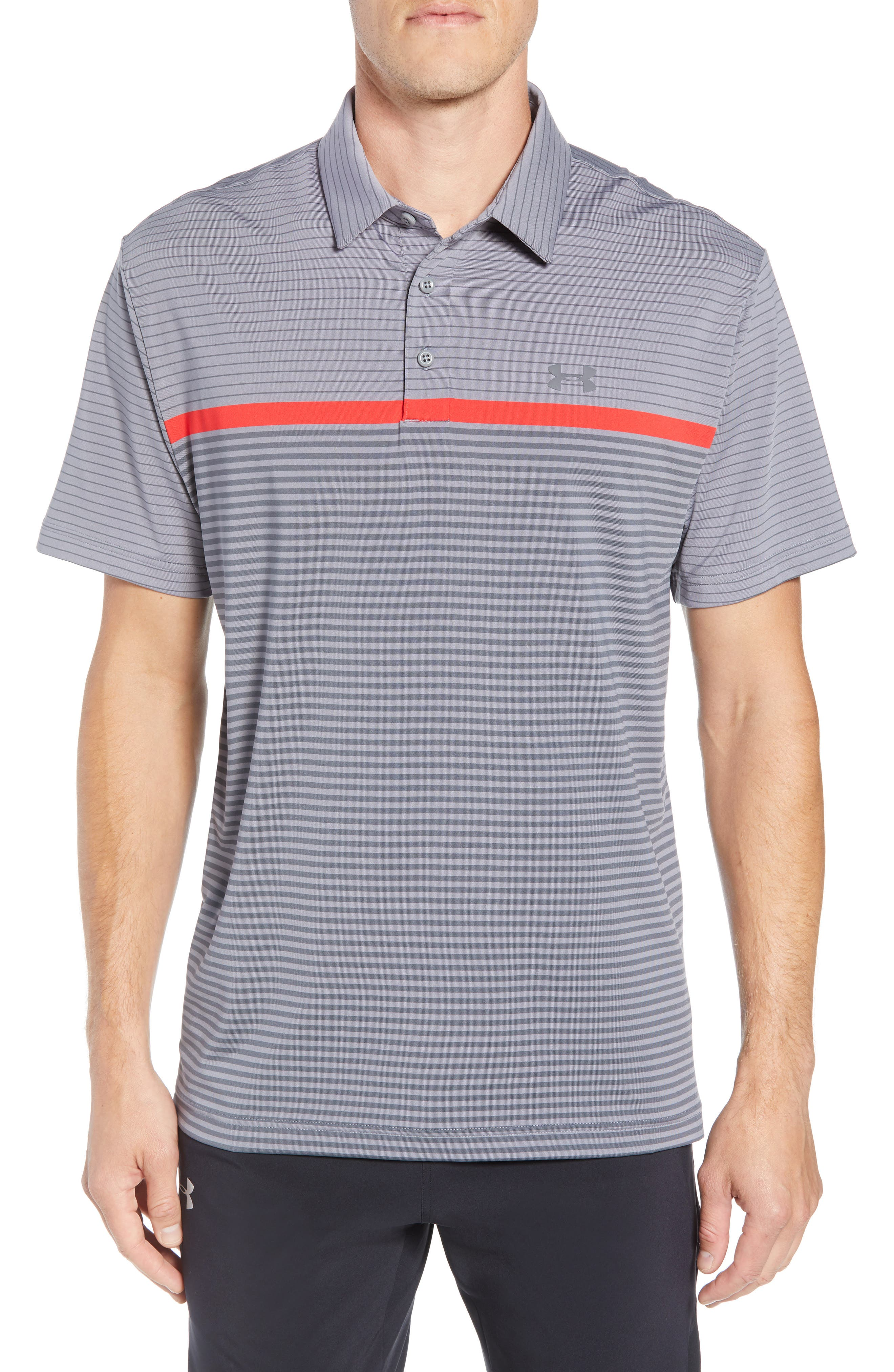 'Playoff' Loose Fit Short Sleeve Polo, Main, color, 020