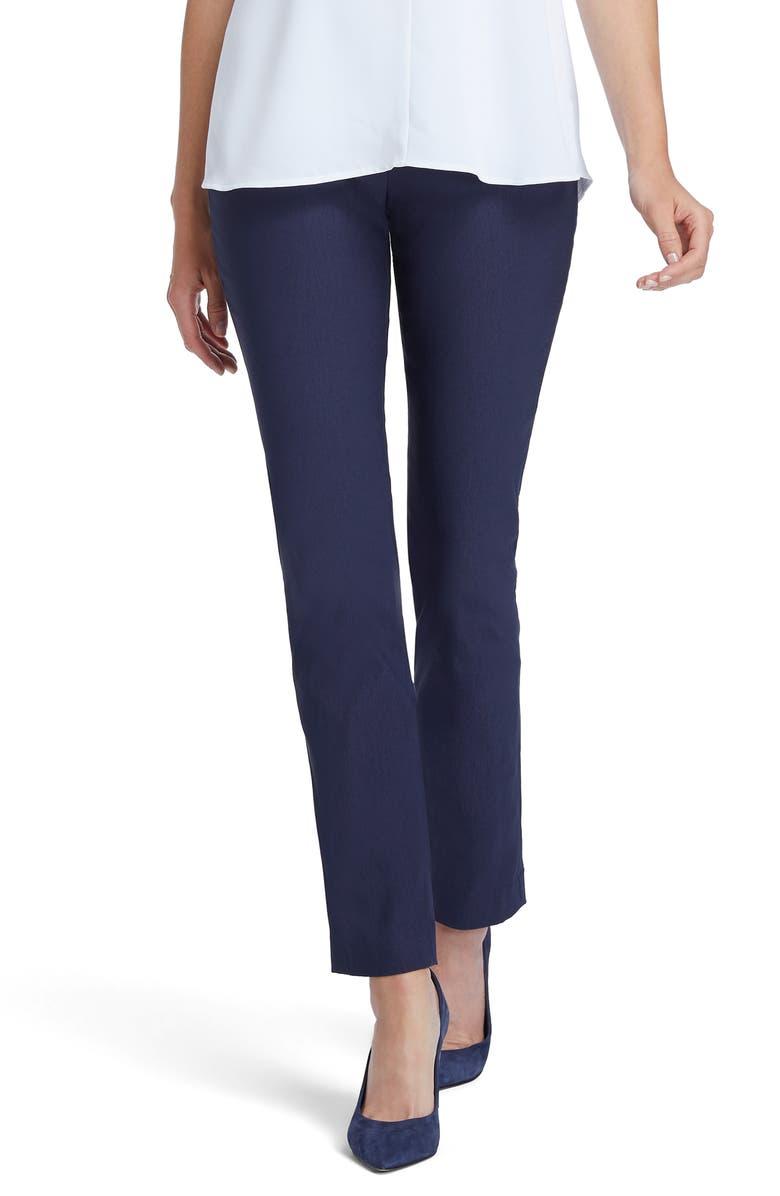 NIC+ZOE Wonderstretch Straight Leg Pants, Main, color, DARK INDIGO