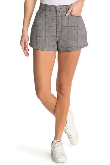 Image of BALDWIN Brie Plaid Denim Shorts