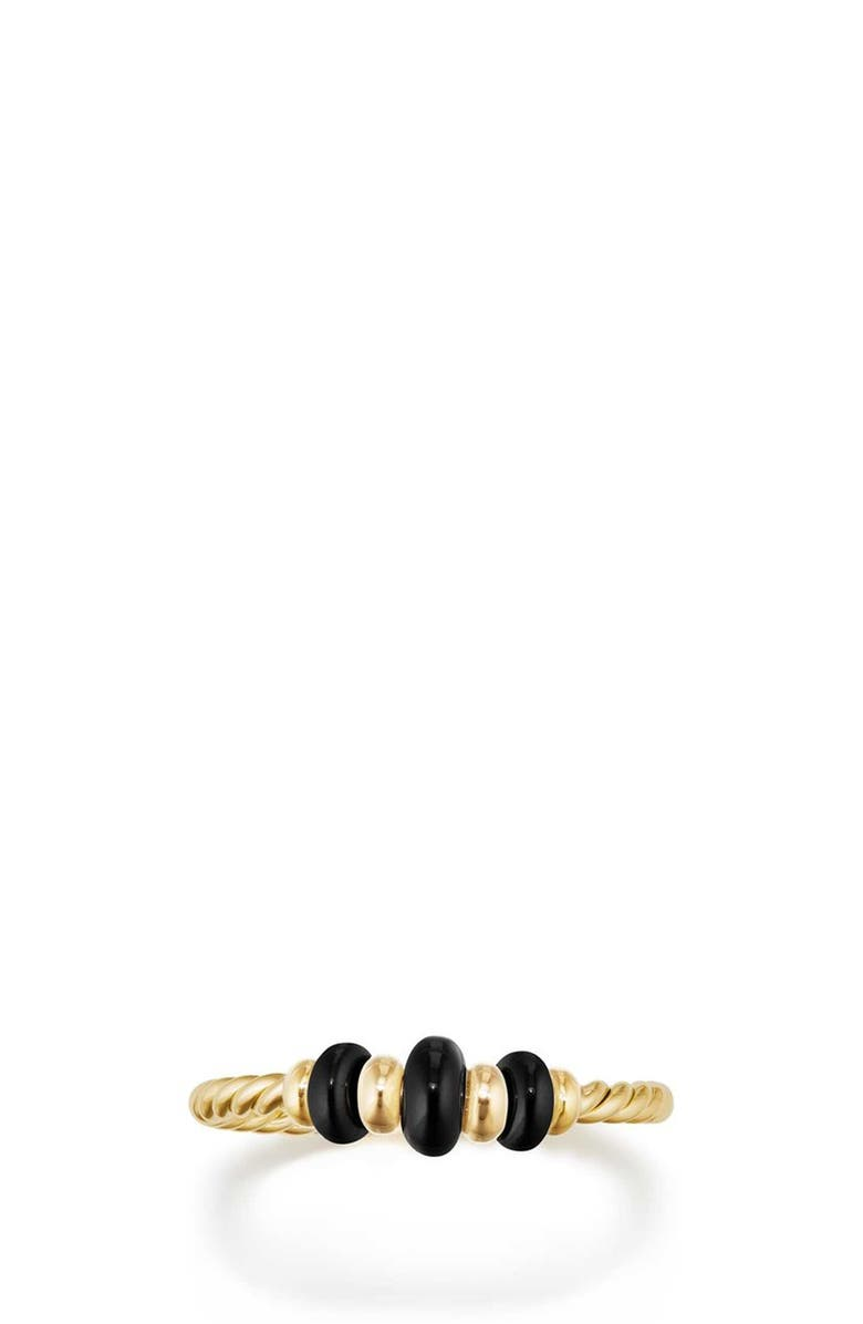 DAVID YURMAN Rio Rondelle 18K Gold Ring, Main, color, GOLD/ BLACK ONYX