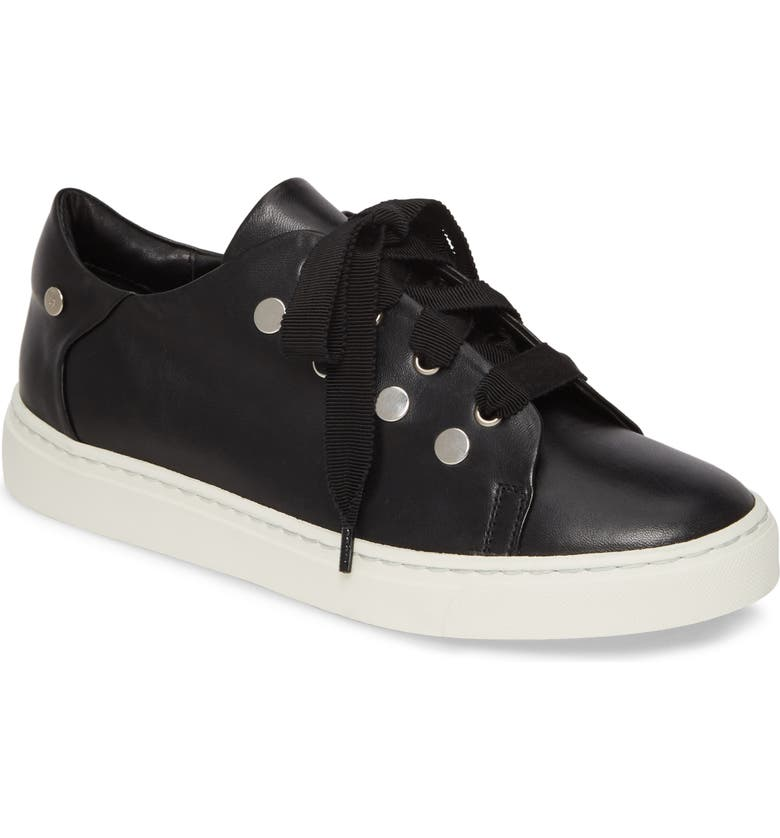 AGL Stud Sneaker, Main, color, BLACK LEATHER