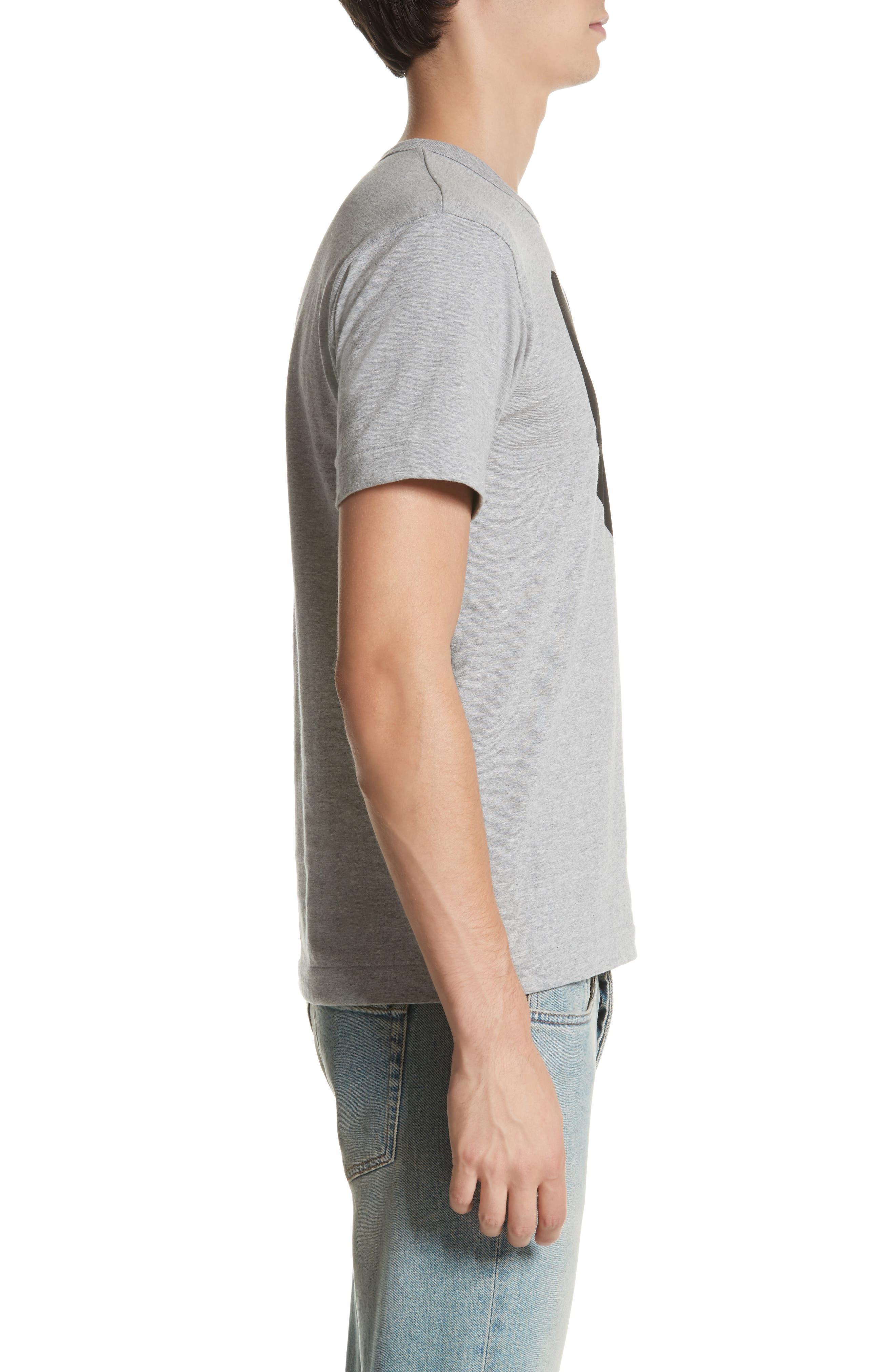 ,                             Logo Slim Fit Graphic Crewneck T-Shirt,                             Alternate thumbnail 3, color,                             TOP DYED GRAY