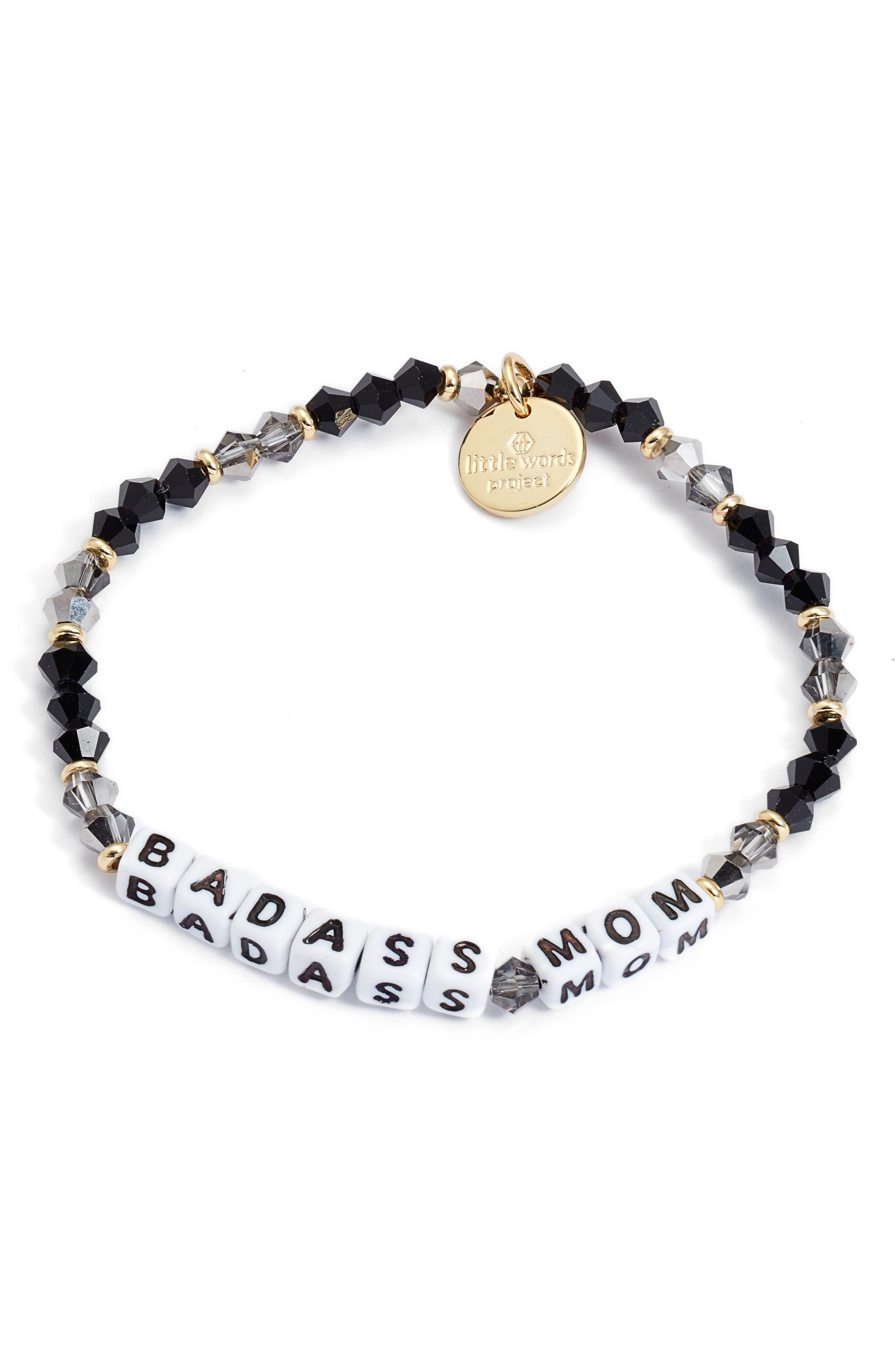 Badass Mom Beaded Bracelet