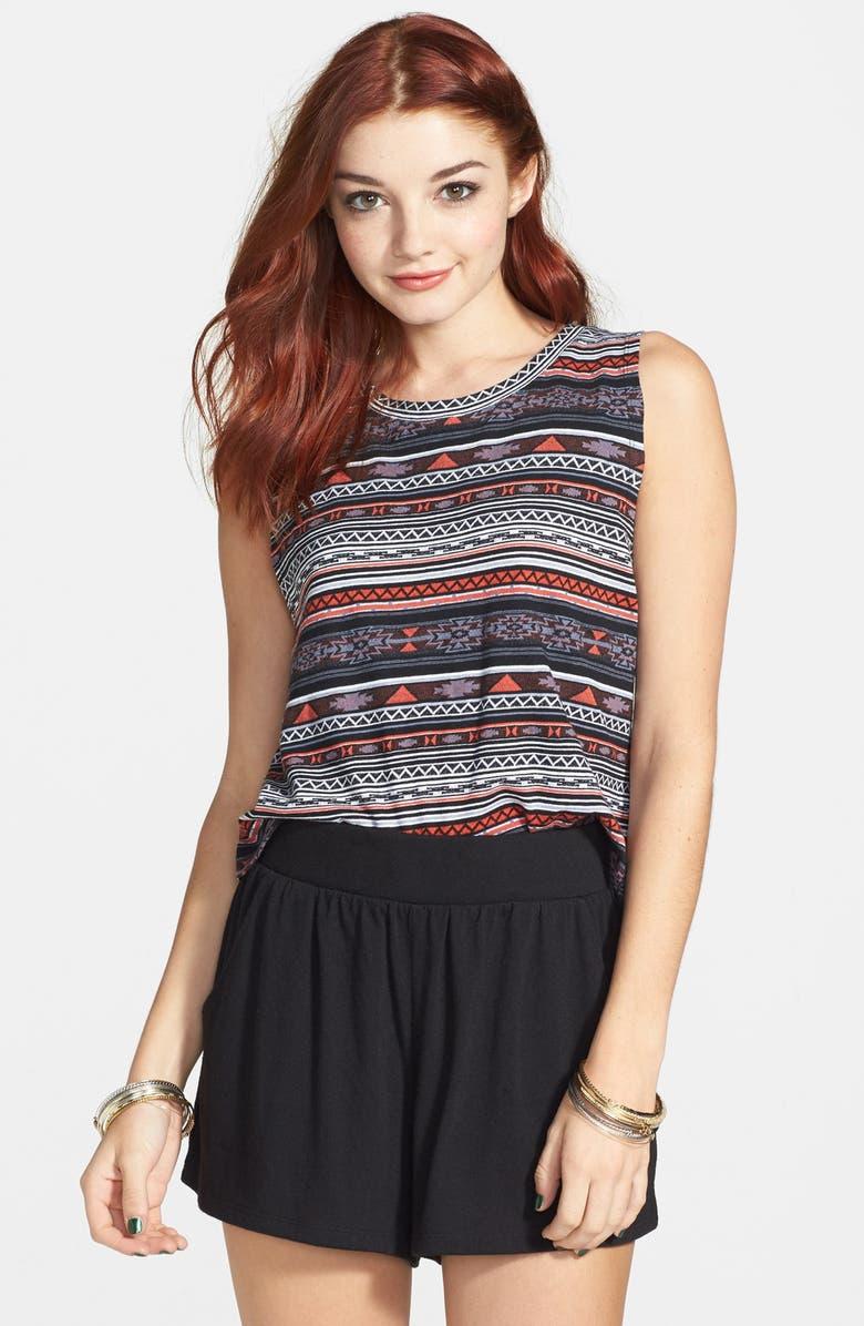 RUBBISH<SUP>®</SUP> Knit Shorts, Main, color, 001