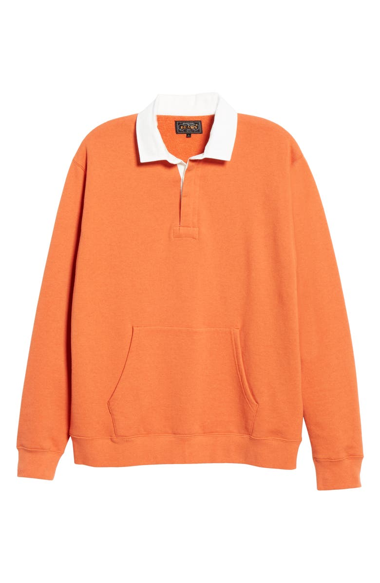 BEAMS PLUS Cotton Rugby Sweatshirt, Main, color, ORANGE