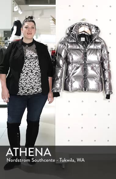 Kylie Metallic Quilted Jacket with Removable Hood, sales video thumbnail