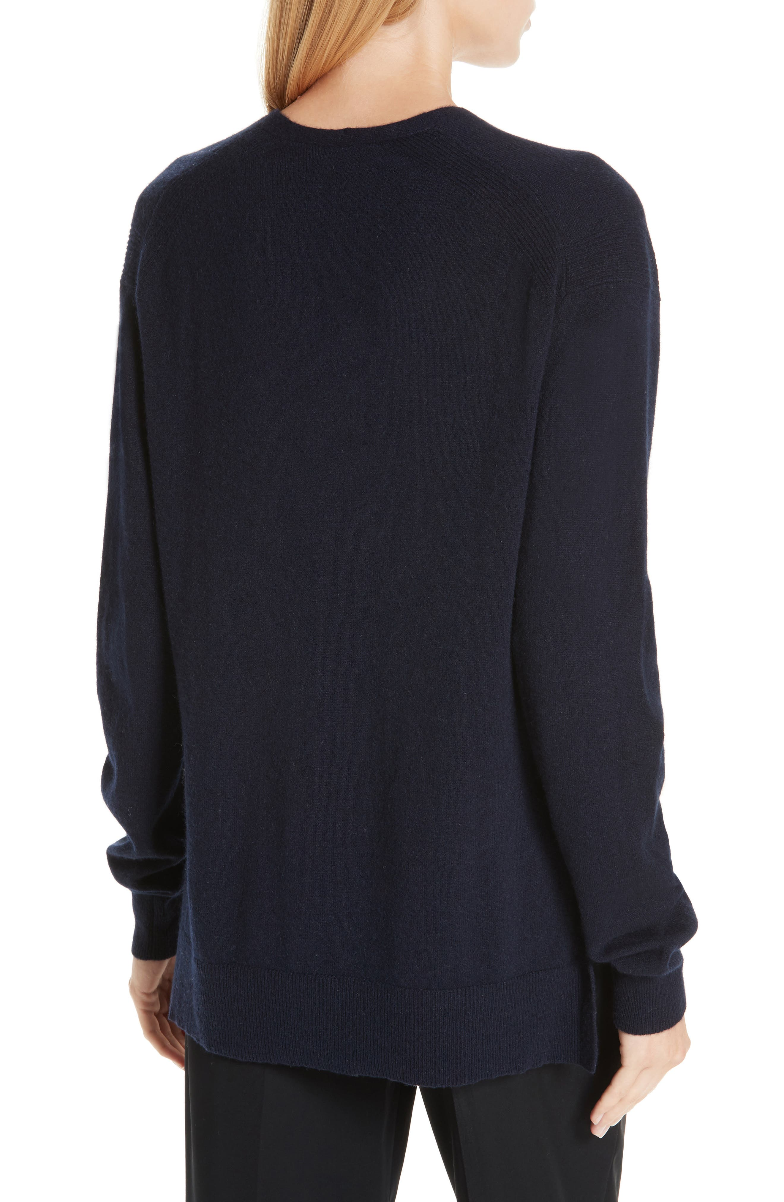 ,                             Wool & Cashmere V-Neck Sweater,                             Alternate thumbnail 8, color,                             403
