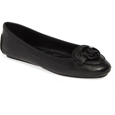 Michael Michael Kors Lillie Logo Ballet Flat- Black