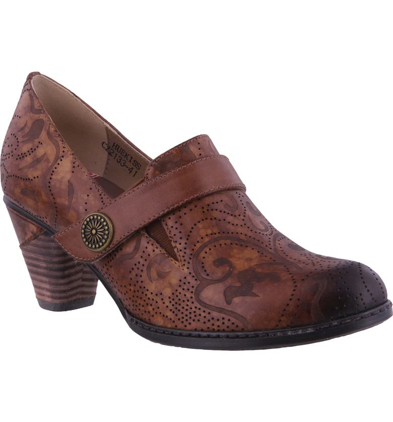 L'ARTISTE Huekiss Perforated Pump, Main, color, MEDIUM BROWN