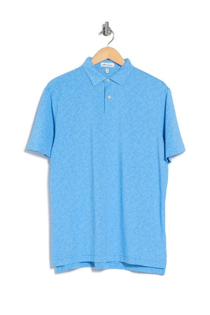 Image of Peter Millar Carl Paisly Jacquard Knit Polo