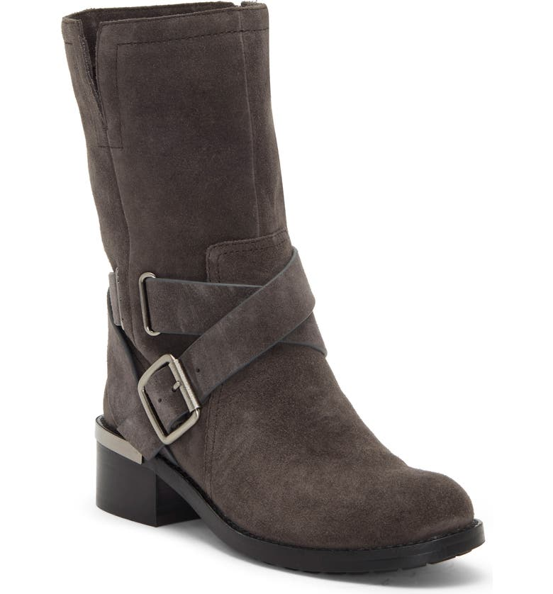 VINCE CAMUTO Wethima Engineer Boot, Main, color, SHADY GREY SUEDE