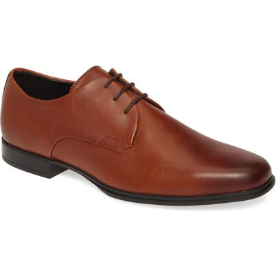 Calvin Klein Dillinger Plain Toe Derby, Brown