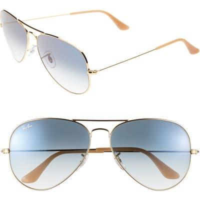 Ray-Ban Large Original 62Mm Aviator Sunglasses - Blue Gradient
