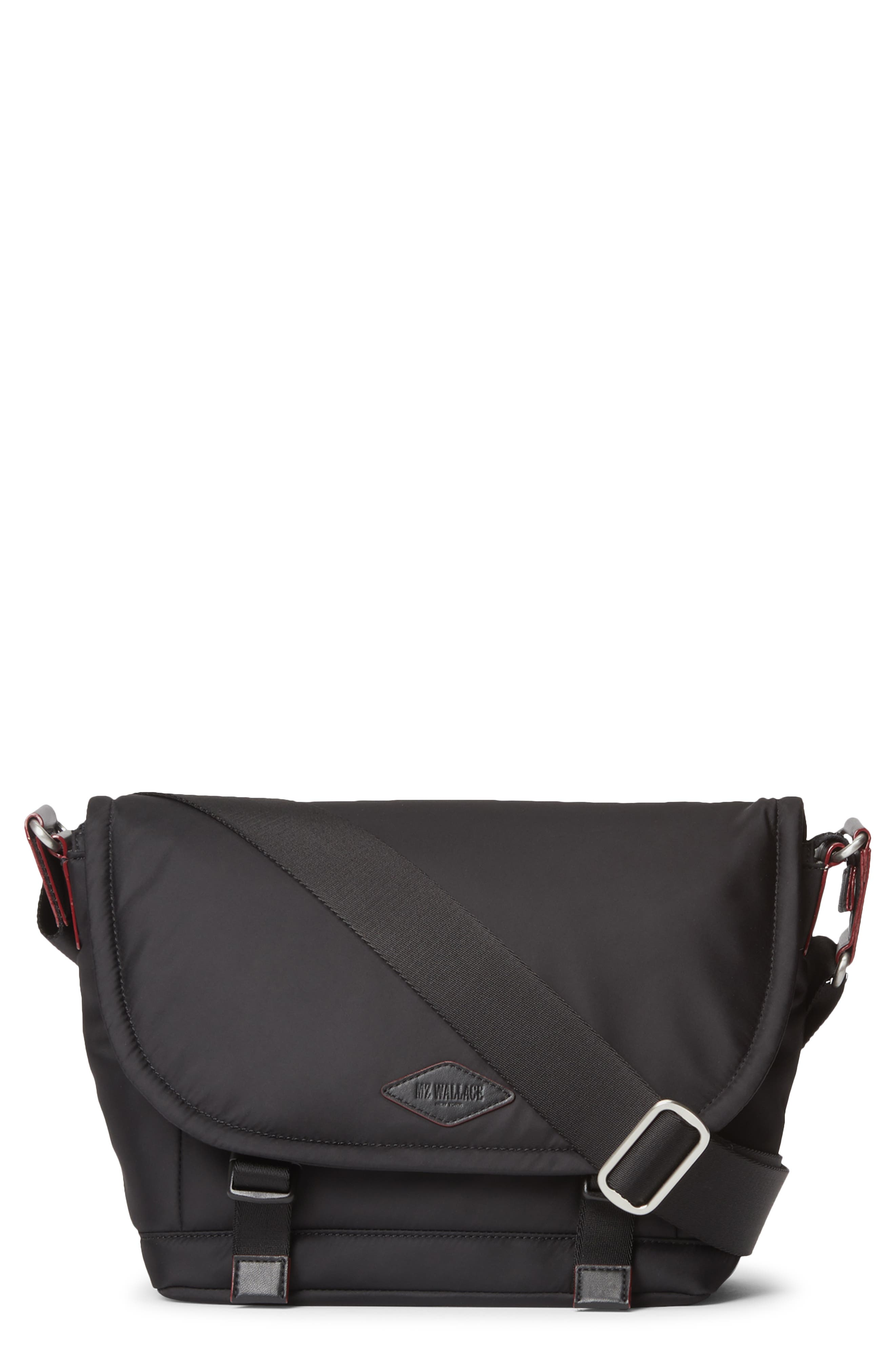 Mz Wallace Small Bleecker Nylon Messenger Bag - Black