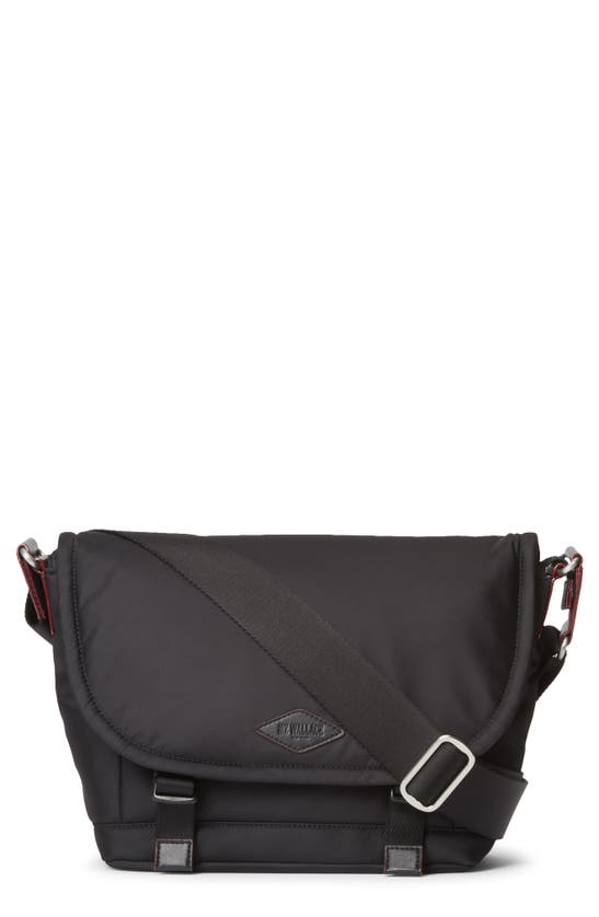 Mz Wallace Small Bleecker Nylon Messenger Bag In Black